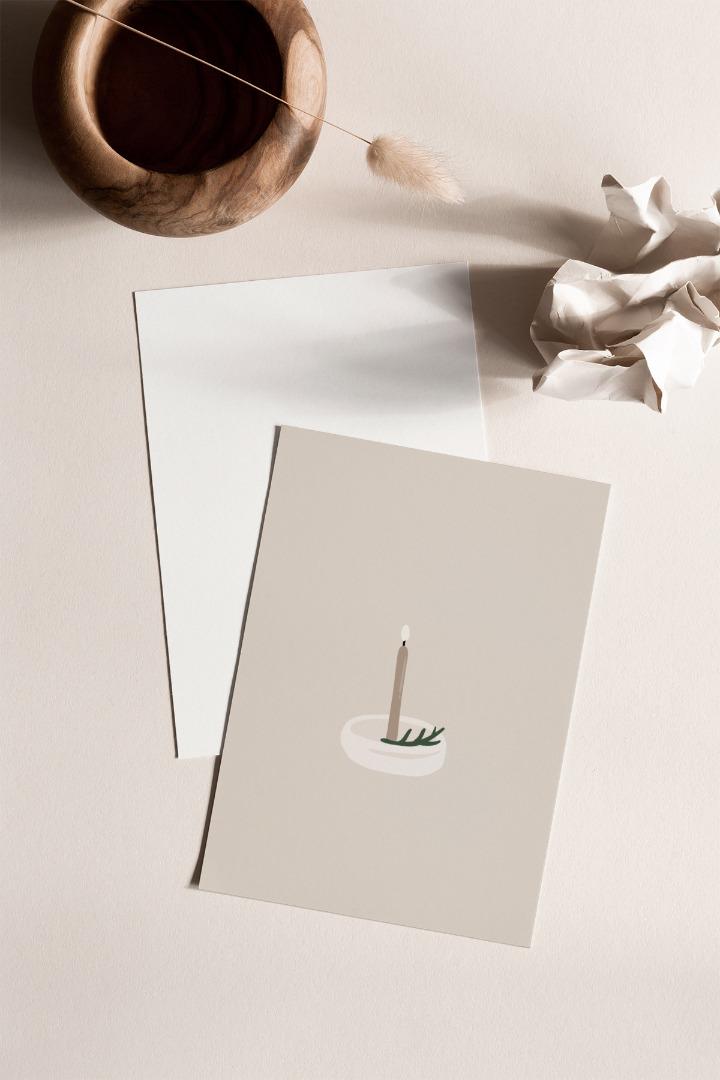 Postkarte Kerzenlicht