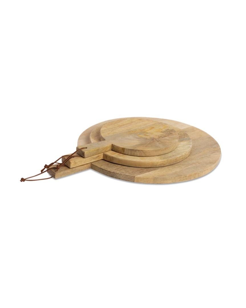 Pizzabrett aus Mango Holz