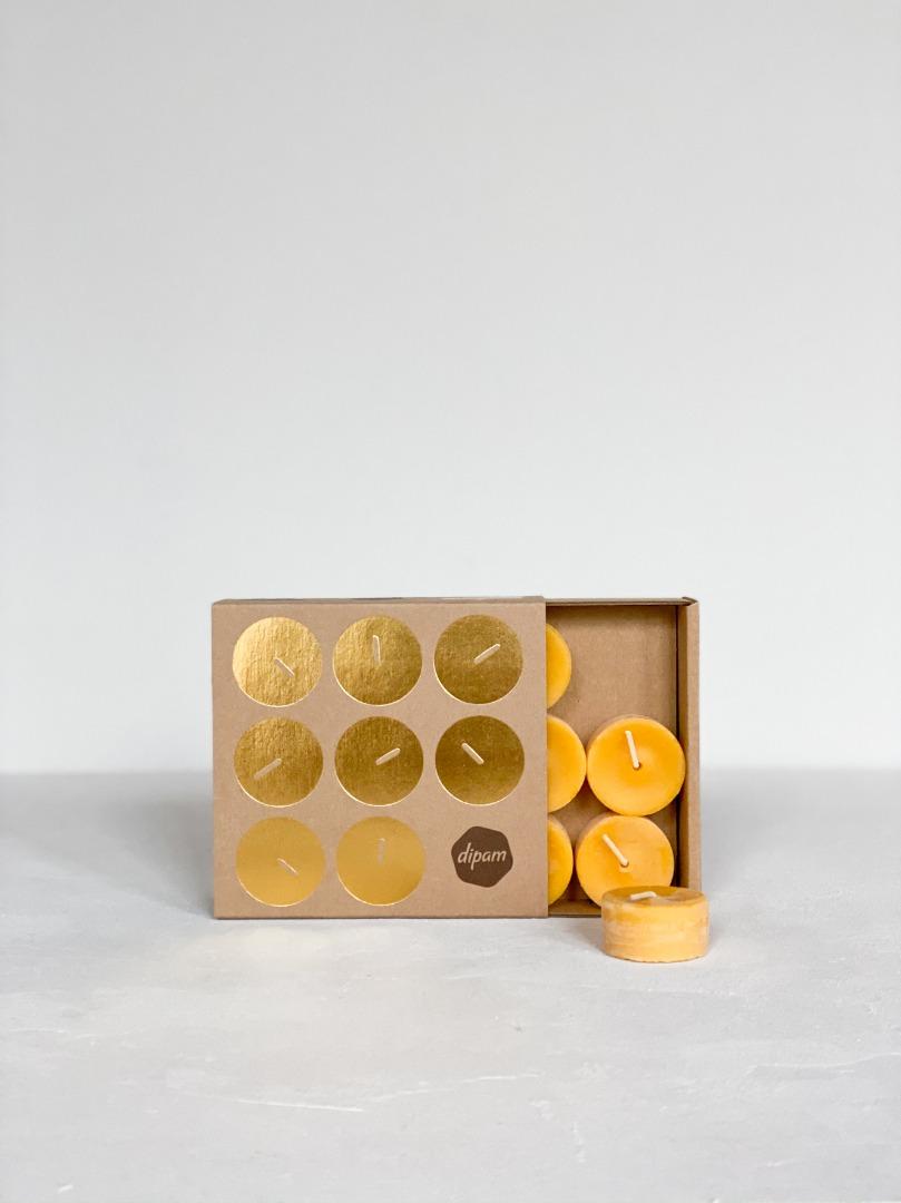 Teelichter aus Bienenwachs