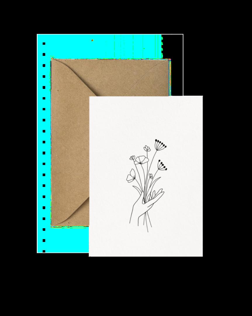Klappkarte Blumenstrauß 2