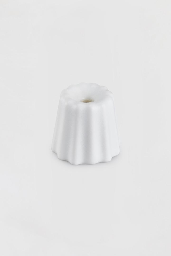 Kerzenhalter Canele aus Porzellan
