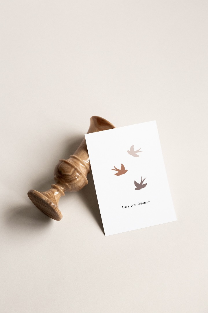 Postkarte Lass uns Träumen