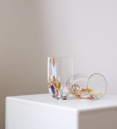 Trinkglas Marble Mundgeblasenes Trinkglas aus des