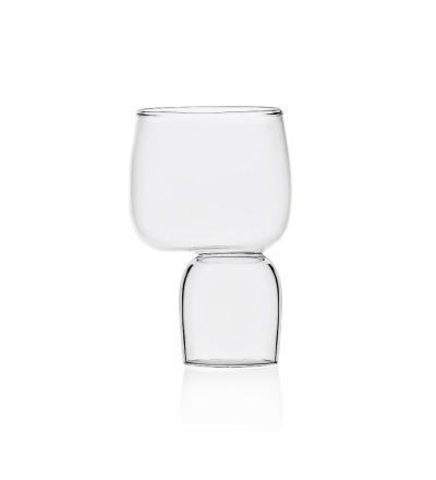 Kokeshi - Wasserglas - Handgefertigtes italienisches