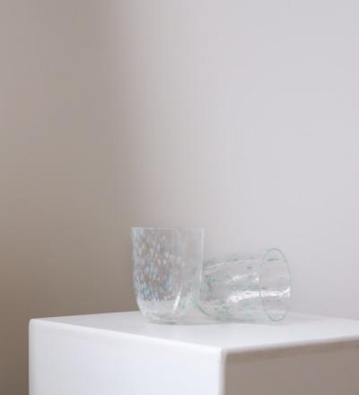 Trinkglas Confetti Ocean Mundgeblasenes Trinkglas aus