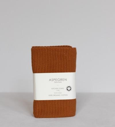 Gestricktes Hand- Geschirrtuch Solid Pumkin Nachhaltig