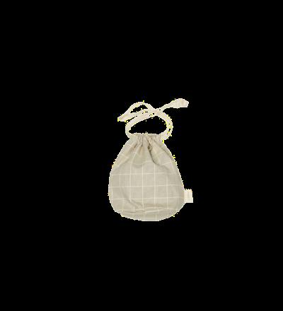 Multibag klein Karomuster Nachhaltige Geschenkverpackung Aufbewahrung