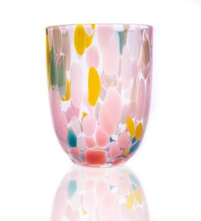 Trinkglas Big Confetti Mundgeblasenes Trinkglas aus