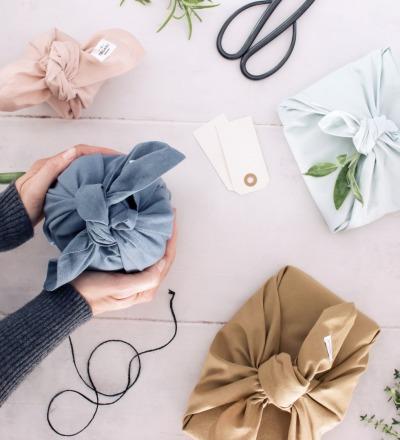 Gift Wrapping Floral Nachhaltige Geschenkverpackung aus