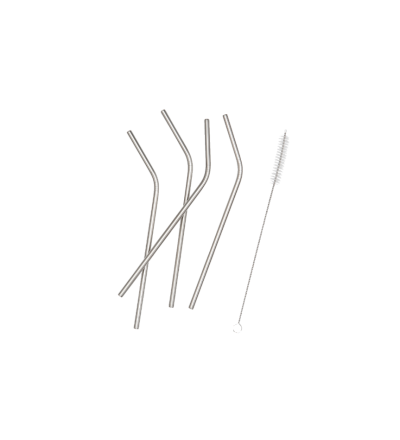Strohhalme 4er Set Strohhalme aus Edelstahl
