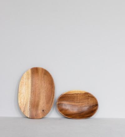 Ovaler Holzteller Ovaler Holzteller aus fairer