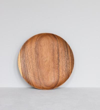 Runder Holzteller Runde Holzteller aus fairer