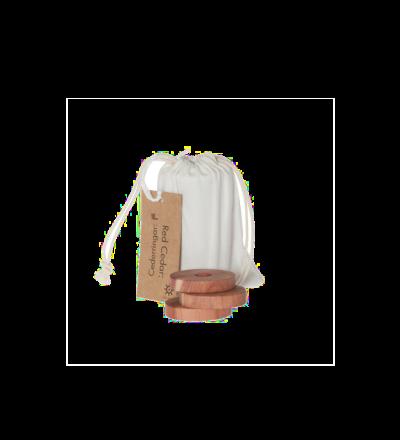 Zedernscheiben in Baumwollbeutel Dufter Schrank und