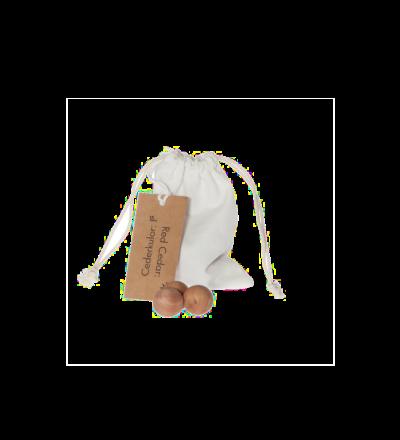 Zedernkugeln in Baumwollbeutel Dufter Schrank und