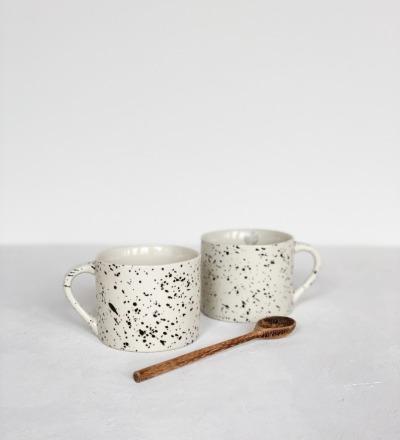 Tasse Ama Kleine Tasse mit Sprenkeldesign