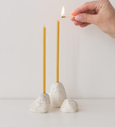 YAMA Kerzenhalter Salt Pepper Handgefertigter kleiner