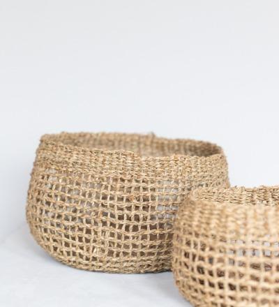 Mendi Korb Wunderschöner Korb aus Seegras