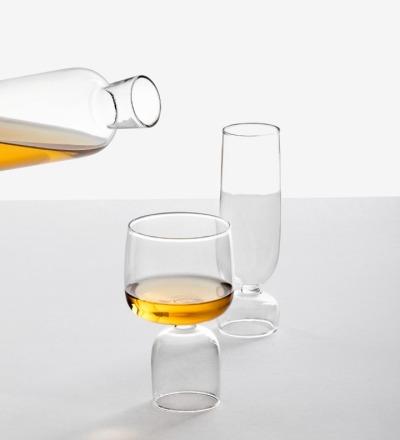Kokeshi - Weinglas - Handgefertigtes italienisches