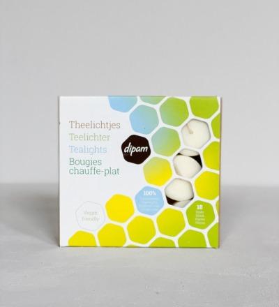 Vegane Teelichter aus Rapsöl 18er-Set vegane