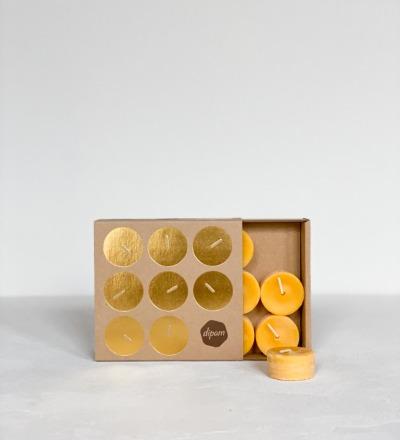 Teelichter aus Bienenwachs 18er-Set Bienenwachs Teelichter