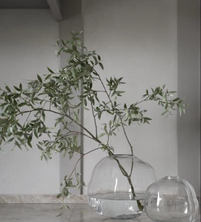 Pebble Vase Organisch geformte große Glasvase