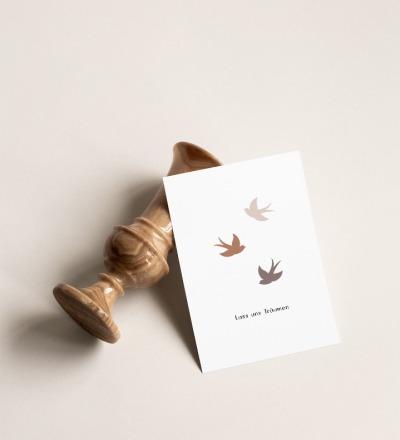 Postkarte Lass uns Träumen Postkarte auf