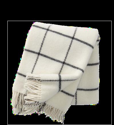 Wolldecke Karomuster Kuschelige Decke aus 100