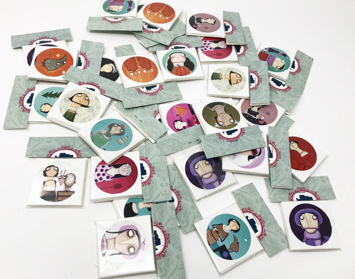 Lacaluna-Aufkleber 20 Stück Vinyl Sticker