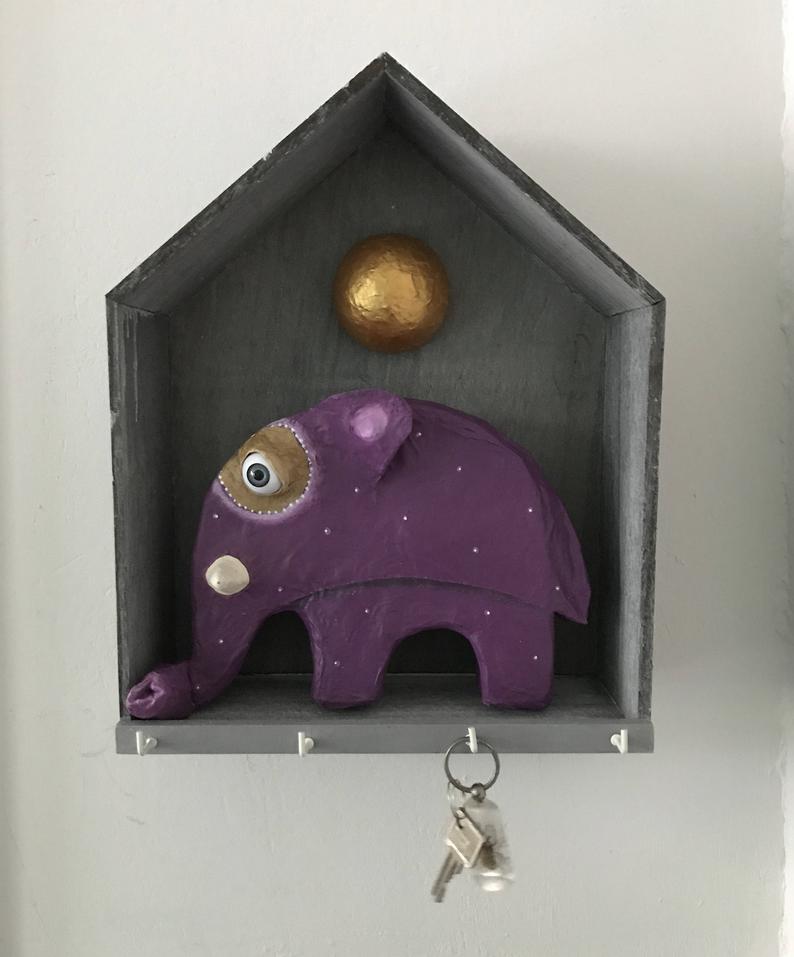 Schlüsselbrett Elefäntchen 3