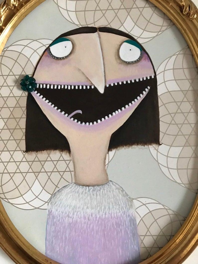 Grete mit Straußenkleid 3