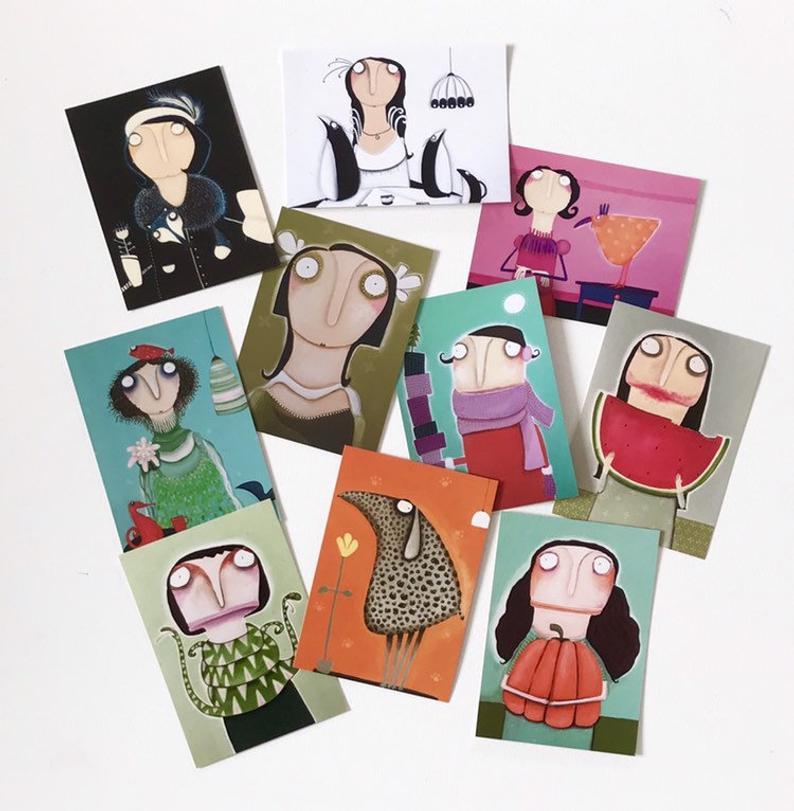 Postkarten im 10er Set b