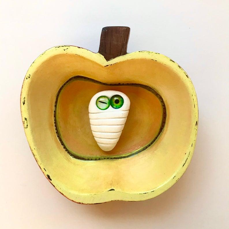 Die Made im Apfel