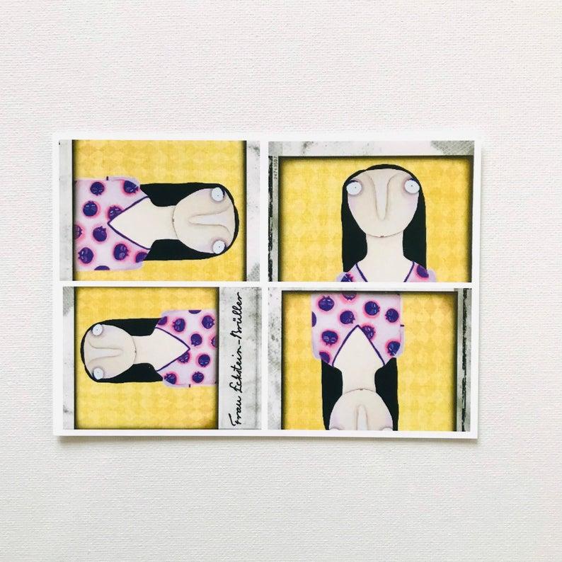 7er Set Postkarten 4