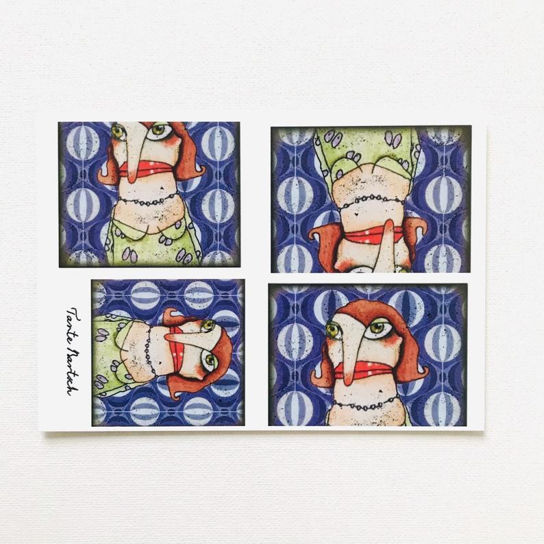 7er Set Postkarten 2
