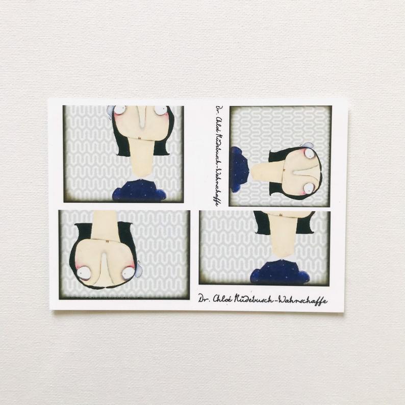 7er Set Postkarten 3