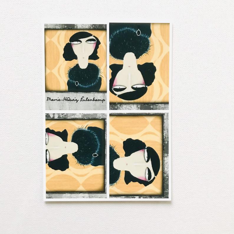 7er Set Postkarten 6