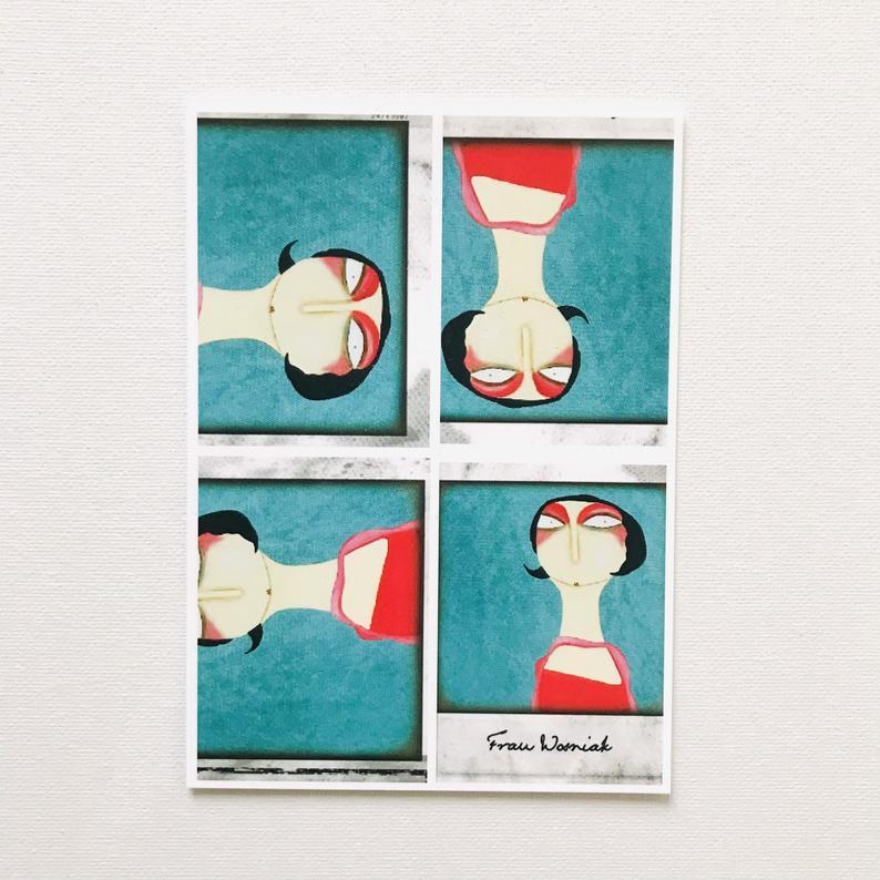 7er Set Postkarten 7