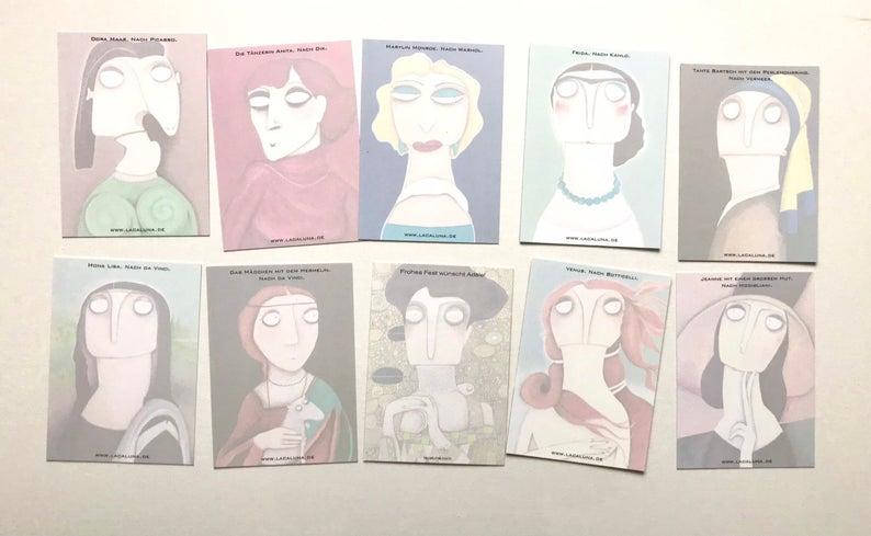 Karten-Set Alte Meisterinnen 8