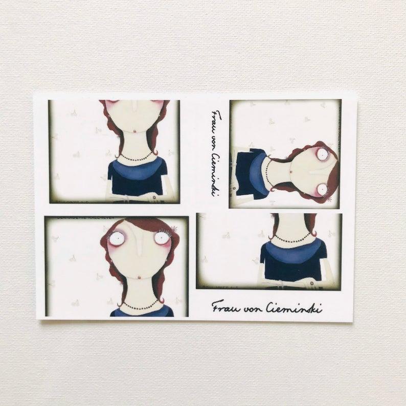7er Set Postkarten 5