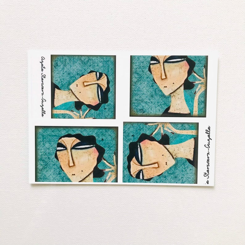 7er Set Postkarten 8