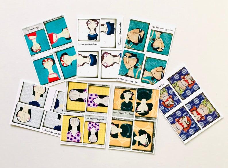 7er Set Postkarten