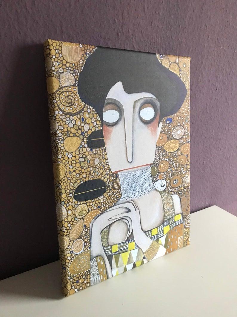 Kunstdruck Adele Bloch nach Gustav Klimt