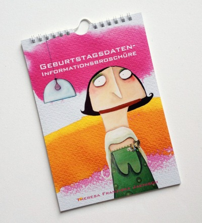 Geburstagsdateninformationsbroschüre - Geburtstagskalender DIN A5