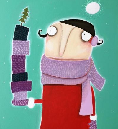 Frau Poloni wünscht bestrickende Weihnachten Acryl