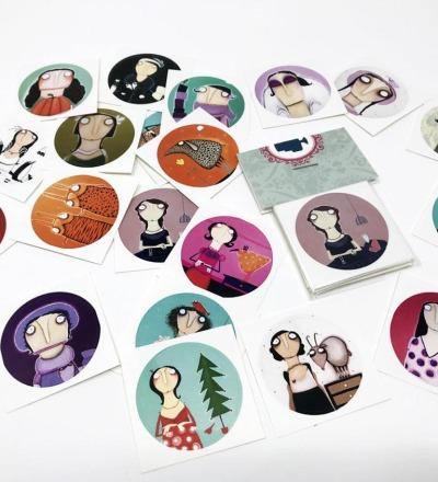 Lacaluna-Aufkleber 20 Stück Vinyl Sticker -