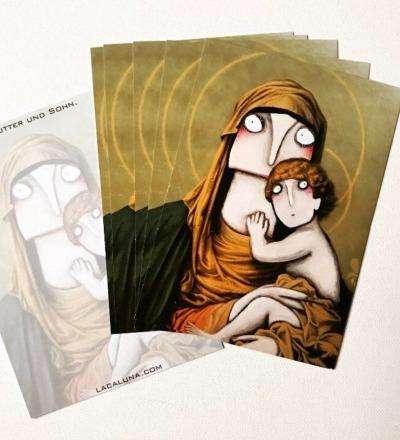 10 Weihnachtskarten Mutter und Sohn -