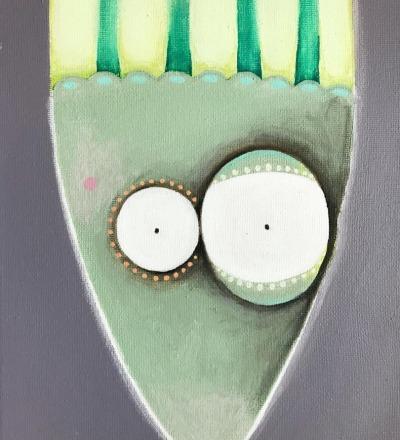 Kleines Sprottenbild - Acryl auf Leinwand