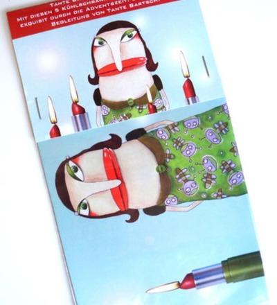Tante Bartsch Weihnachtsmagnete 5er Set Kühlschrankmagnete
