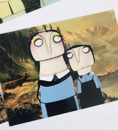 12 Märchenpostkarten - Postkarten Märchen