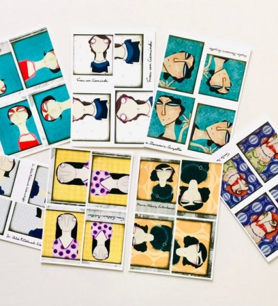 7er Set Postkarten - Old-Photo-Sytle